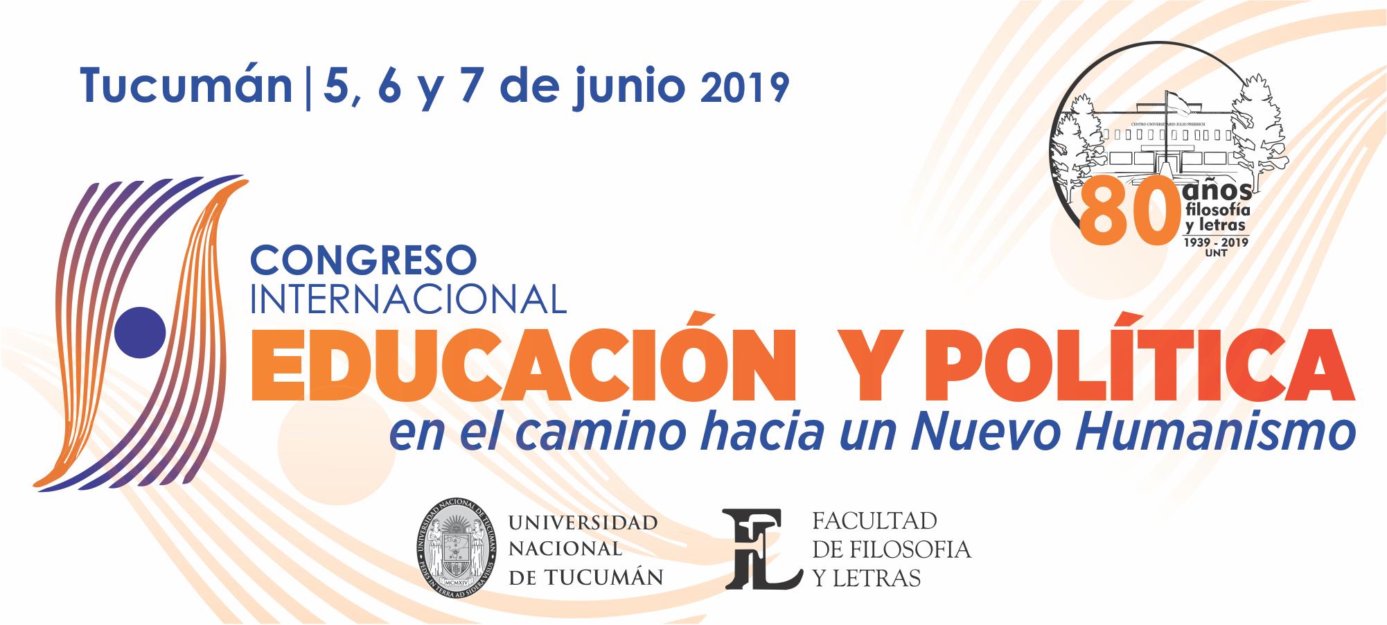 Congreso Internacional 2019. Educación y Política en el camino hacia un Nuevo Humanismo Logo