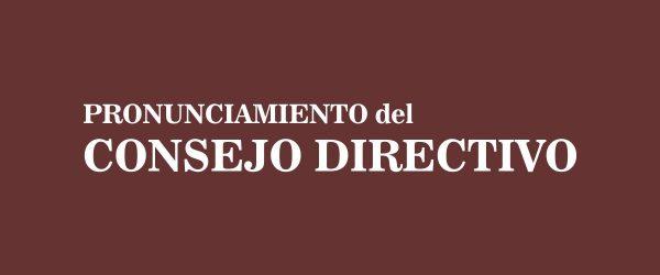 Pronunciamiento del Consejo Directivo por el fallecimiento de la alumna Marianella Triunfetti