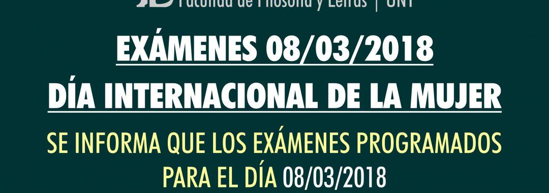 Exámenes programados para el 8 de marzo pasan en bloque al 12 de marzo