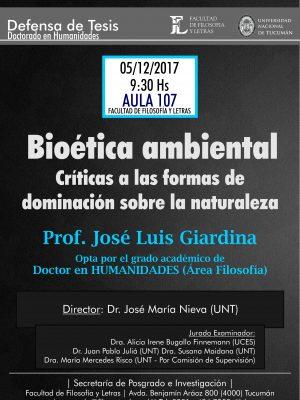 """Defensa de Tesis """"Bioética Ambiental"""""""
