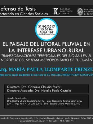 """Defensa de Tesis """"El paisaje del litoral fluvial"""""""