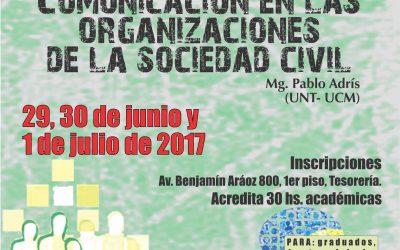"""Posgrado """"Comunicación en las organizaciones de la sociedad civil"""""""