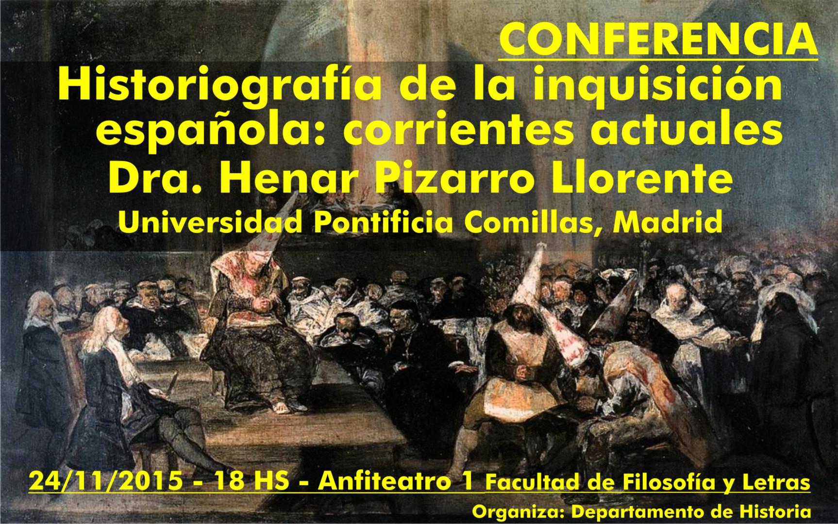 Conferencia historiograf a de la inquisici n espa ola for Oficina de turismo de comillas