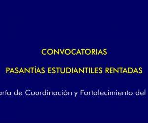 Pasantía Rentada Trabajo Social. Dirección de Familia