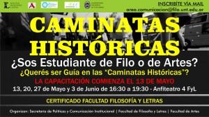 AFICHE CAMINATAS HISTORICAS_CONVOCATORIA ESTUDIANTES
