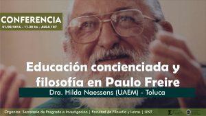 CONFERENCIA HILDA NAESSENS - PAULO FREIRE
