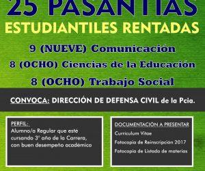 25 Pasantías Rentadas Defensa Civil