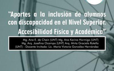"""Posgrado """"Aportes a la inclusión de alumnos con discapacidad"""""""