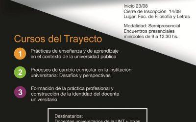 """Trayecto de Posgrado """"Capacitación Pedagógica Universitaria"""""""