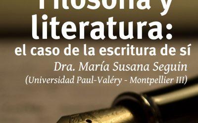 """Posgrado """"Filosofía y Literatura: el caso de la escritura de sí"""""""
