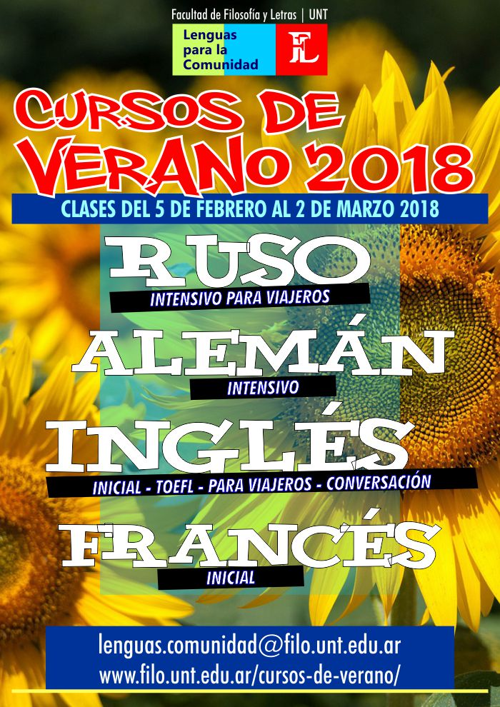 Cursos de Lenguas. Verano 2018