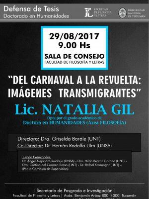 """Defensa de tesis """"Del carnaval a la revuelta"""""""