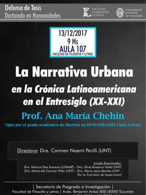 "Defensa de Tesis ""La narrativa urbana"""