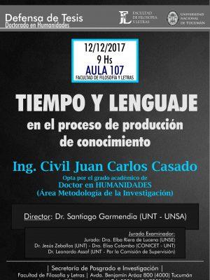 """Defensa de Tesis """"Tiempo y Lenguaje"""""""