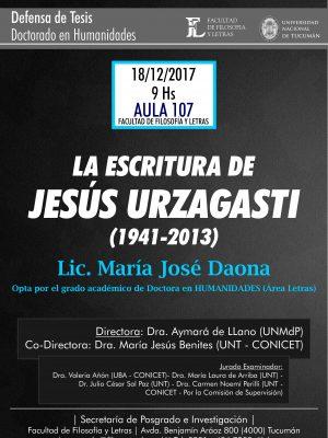 """Defensa de Tesis """"La escritura de Jesús Urzagasti"""""""