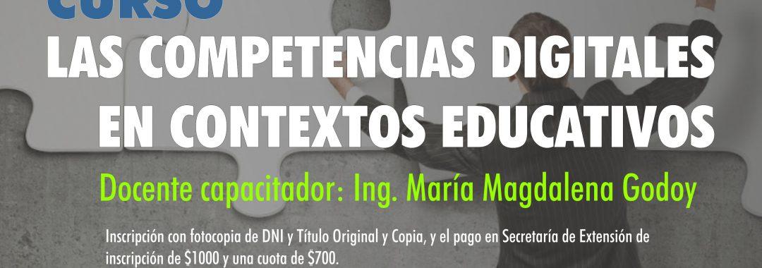 Curso de capacitación Competencias digitales en contextos educativos