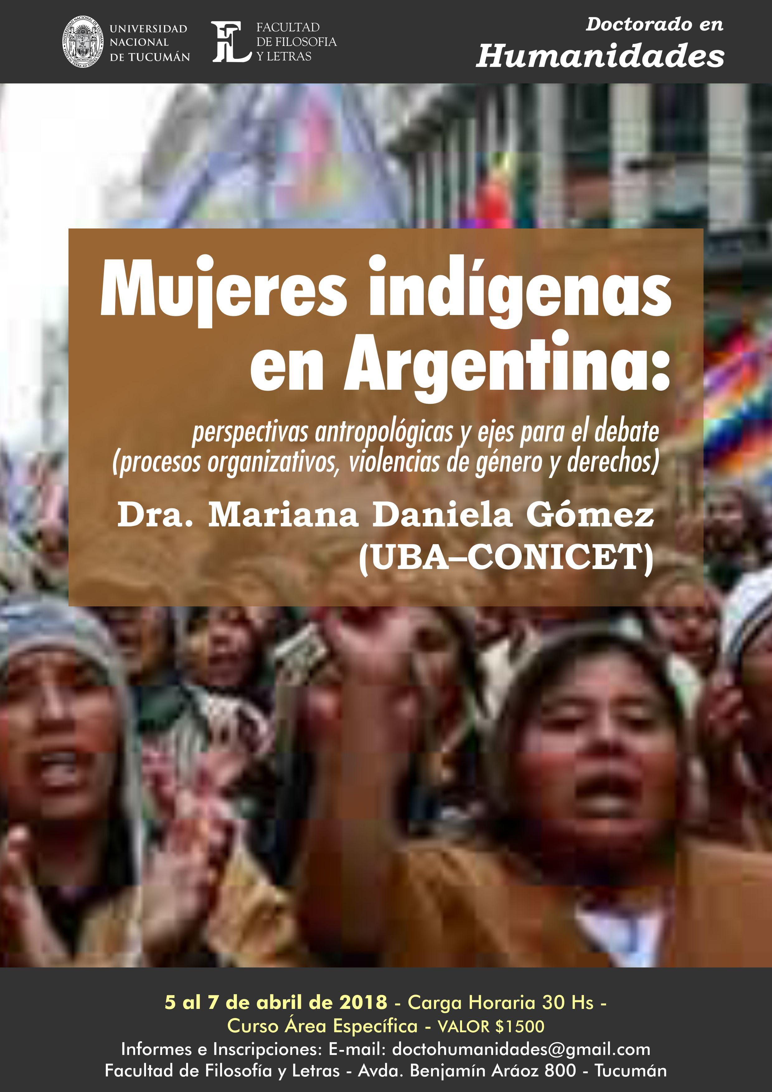 Curso de posgrado Mujeres indígenas