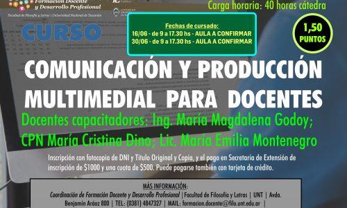 Curso de Capacitación. Comunicación y Producción Multimedial