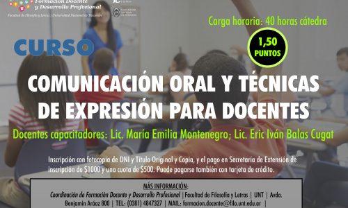 Curso de Capacitación. Comunicación oral y técnicas de expresión