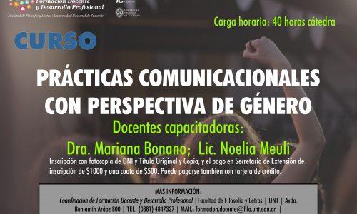 Curso de Capacitación. Prácticas comunicacionales con perspectiva de género