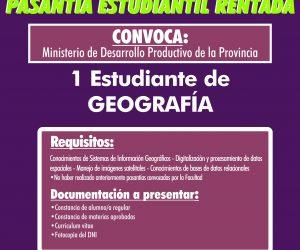 Pasantía Geografía. Ministerio Desarrollo Productivo