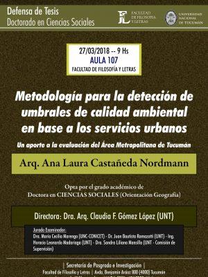 """Defensa de tesis """"Metodología para la detección de umbrales de calidad ambiental"""""""