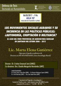 Defensa de tesis Marta Elena Gutiérrez