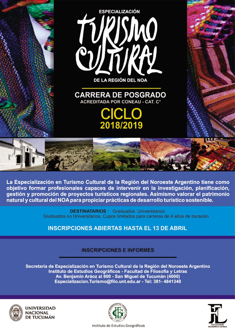 Especialización Turismo – Facultad de Filosofía y Letras Universidad ...