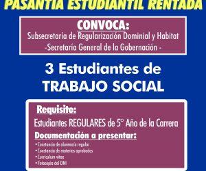 Pasantía Trabajo Social. Subsecretaría de Regularización Dominial