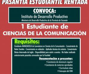Pasantía Ciencias de la Comunicación. Instituto de Desarrollo Productivo