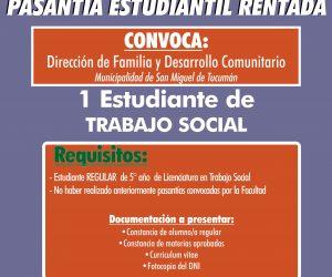 Pasantía Trabajo Social. Dirección de Familia y Desarrollo Comunitario