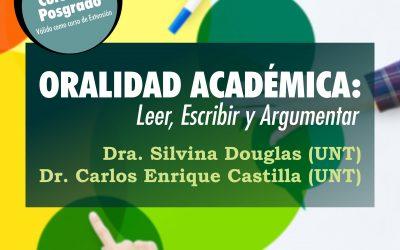 """Posgrado """"Oralidad académica: leer, escribir y argumentar"""""""