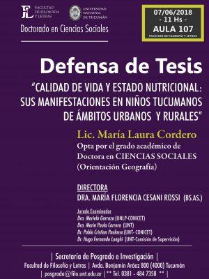 """Defensa de tesis """"Calidad de vida y estado nutricional"""""""
