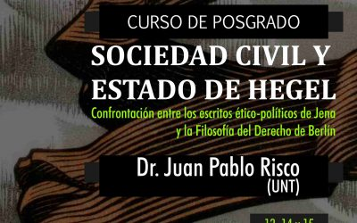 "Posgrado ""Sociedad Civil y Estado de Hegel"""