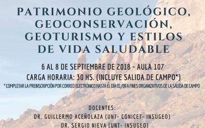 """Posgrado """"Patrimonio geológico, geoconservación, geoturismo"""""""
