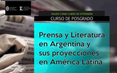 """Posgrado """"Prensa y literatura en Argentina y sus proyecciones en América Latina"""""""