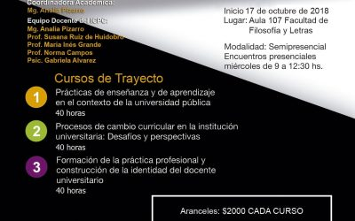 Capacitación Pedagógica Universitaria. Trayecto de Posgrado