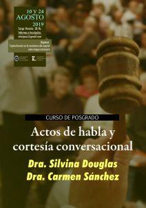 """Afiche posgrado """"Actos de habla y cortesía conversacional"""""""