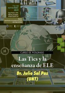 """Afiche posgrado """"Las Tics y la enseñanza de ELE"""""""