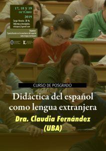 """Afiche posgrado """"Didáctica del español como lengua extranjera"""""""