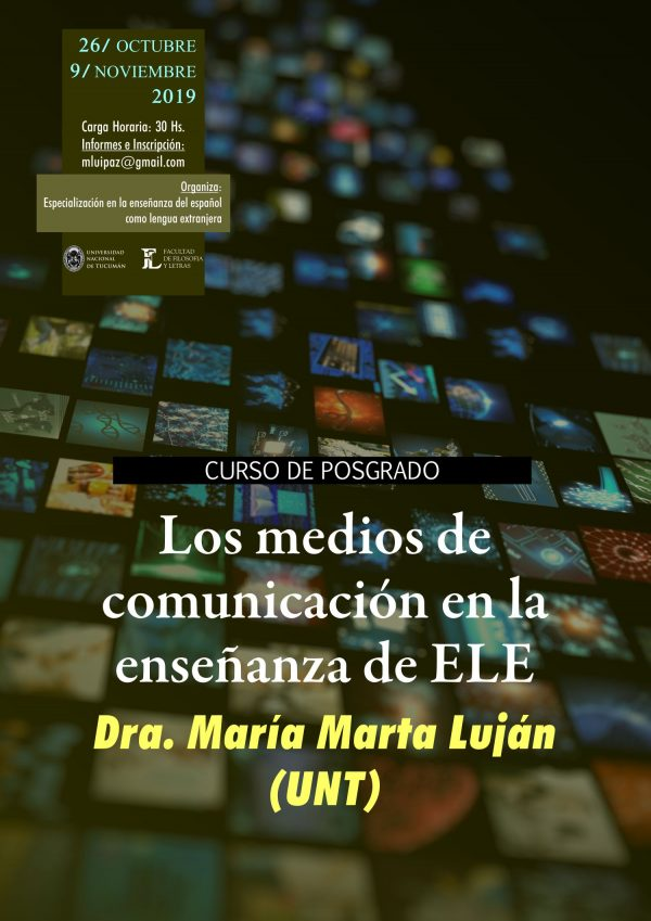 """Afiche posgrado """"Los medios de comunicación en la enseñanza de ELE"""""""