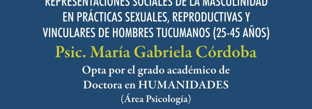 Afiche Defensa Tesis María Gabriela Córdoba