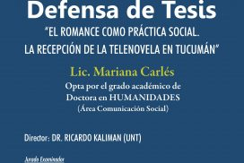 Defensa de Tesis Doctoral Mariana Carlés