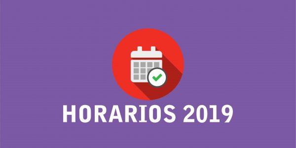 Cartel Horarios 2019